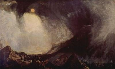 Joseph Mallord William Turner (1775–1851), Snow Storm: Hannibal and his Army crossing the Alps, Öl auf Leinwand, 1810–1812; Bildquelle: Tate Gallery London, http://www.tate.org.uk.