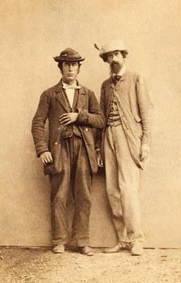 Leslie Stephen mit dem Bergführer Melchior Anderegg, ca. 1870 IMG