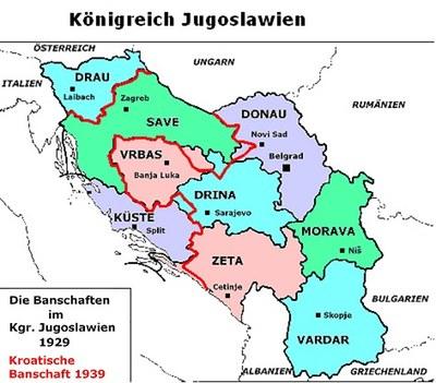 Verwaltungseinheiten des Königreich Jugoslawien