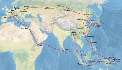 Karte zur medizinisch-demographischen Deutsch-Neuguinea-Expedition