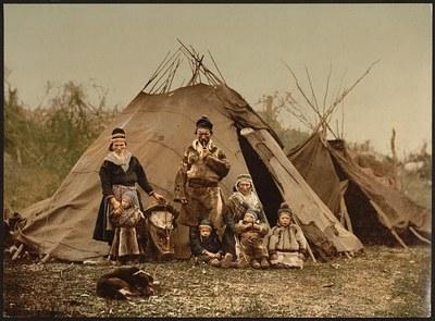 Samisches Familienbild um 1900