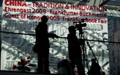 Impression von Frankfurter Buchmesse, 14. Oktober 2009 Quelle: Frankfurter Buchmesse; http://www.buchmesse.de/de/fbm/news-media/fotogalerie/;  Genehmigung per Mail am 12.11.09 erteilt