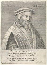 Hendrik Hondius I (1576–1650), portrait of Peter Martyr Vermigli (1499–1562), engraving, 1599; source: Rijksmuseum, Amsterdam, https://www.rijksmuseum.nl/en/collection/RP-P-1908-3865.