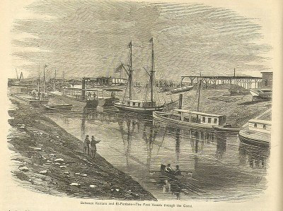 First vessels through the Suez Canal 1869 IMG