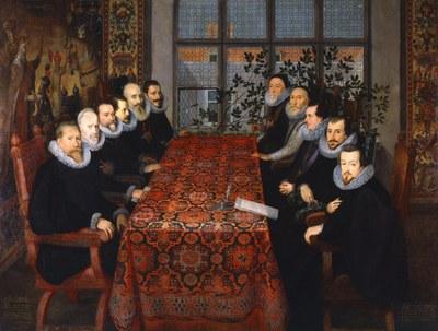 Juan Pantoja de la Cruz (1535-1608), La conferencia de Sommerset House, Öl auf Leinwand, 1604; Bildquelle: National Portrait Gallery, London.