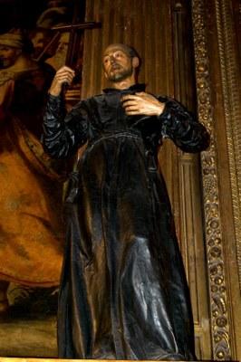 Juan Martínez Montañés (1568-1649) / Francisco Pacheco (1564-1644), San Ignacio de Loyola, Statue aus polychromiertem Holz, 1610, Iglesia de la Anunciación, Sevilla; Bildquelle: Wikimedia Commons, http://commons.wikimedia.org/wiki/File:San_Ignacio_de_Loyola_001.jpg