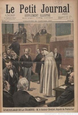 Le Petit journal. Supplément du dimanche, Titelblatt der Ausgabe vom 24. Januar 1897, Paris, unbekannter Künstler; Bildquelle: www.gallica.bnf.fr, Permalink: http://gallica.bnf.fr/ark:/12148/bpt6k7162108/f1.image.