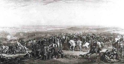 Thomas Jones Barker, Die alliierten Generäle vor Sewastopol, Öl auf Leinwand, 1856, Privatsammlung.