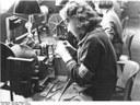 Dänische Zwangsarbeiterin mit Armbinde 1941 IMG