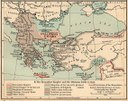 The Byzantine Empire and the Ottoman Turks in 1355, Karte, 1911, unbekannter Ersteller; Bildquelle: Shepherd, William R.: The Historical Atlas, New York, 1911. Digitalisat: The University of Texas at Austin, http://www.lib.utexas.edu/maps/historical/shepherd/byzantine_empire_1355.jpg.