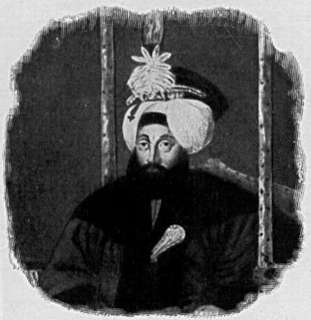 Portrait von Sultan Mahmud II. (ca. 1785–1839), 1902, unbekannter Künstler; Bildquelle: Helmolt, H.F. (Hg): History of the World, New York 1902. Digitalisat: The University of Texas at Austin, http://www.lib.utexas.edu/exhibits/portraits/index.php?img=248.