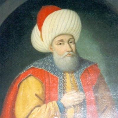 Porträt von Sultan Murad I. (ca. 1325–1389) im Manyal-Palace-Museum, Kairo, Ägypten, entstanden wahrscheinlich vor 1952. Bildquelle: Wikimedia Commons, http://commons.wikimedia.org/wiki/File:Murad_I_-_Manyal_Palace_Museum.JPG