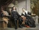 """The Haarlem publisher of the """"Oprechte Haerlemsche Courant"""", Abraham Casteleyn and his wife Margarieta van Bancken, 1663 IMG"""