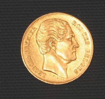 Leopold I., König von Belgien (1790–1865), Goldmünze, Photograph: D. J. Müller; Bildquelle: Wikimedia Commons, http://commons.wikimedia.org/wiki/File:Leopold_I_Belgien.JPGCreative Commons Attribution ShareAlike Unported 3.0