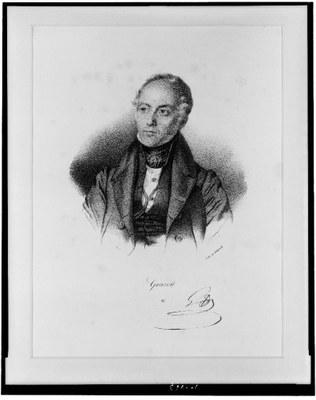 François Séraphin Delpech (1778–1825), Portrait François Guizot (1787–1874),  Lithographie, ohne Datum [vor 1825]; Bildquelle: Library of Congress, Prints and Photographs Division, http://hdl.loc.gov/loc.pnp/cph.3c00963.