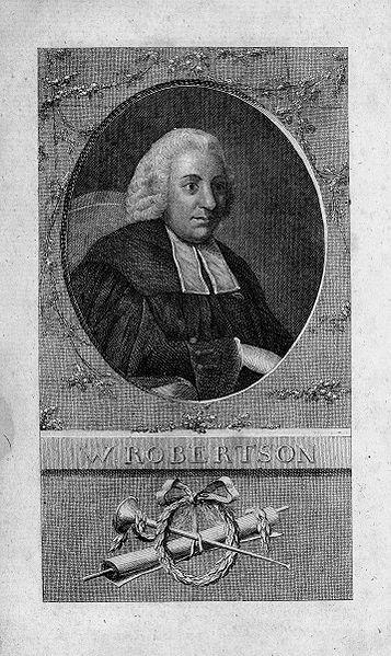 Portrait William Robertson (1721–1793), Kupferstich nach einem zeitgenössischen Ölgemälde, 1777, unbekannter Künstler; Bildquelle: Robertson, William: Geschichte von Amerika: Aus dem Englischen übersetzt von Johann Friedrich Schiller, Leipzig 1777.
