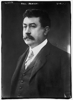 Paul Painlevé (1863–1933), schwarz-weiß Photographie, ohne Datum [vor 1933], unbekannter Photograph; Bildquelle: Library of Congress, George Grantham Bain Collection, http://hdl.loc.gov/loc.pnp/ggbain.38382.
