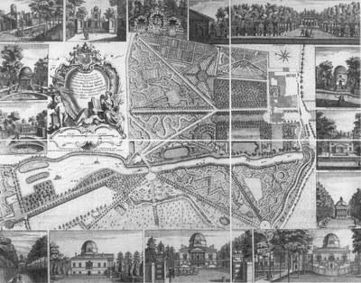 Plan du Jardin, & Vuës des Maisons de Chiswick IMG
