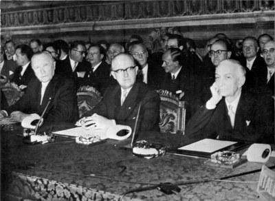 Unterzeichnung der römischen Verträge 1957
