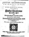 Justus Ucondonus, Titelblatt IMG