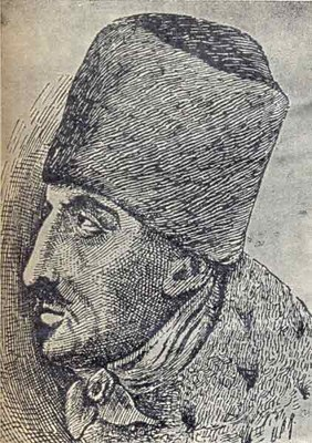 Portrait von Jakob Frank (1726–1791), unbekannter Künstler; Bildquelle:  Jüdisches Lexikon, Berlin 1928, vol. 2, Sp. 713.