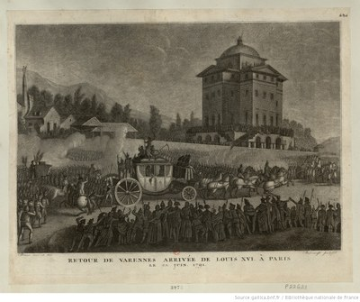 Die Rückkehr Ludwigs XVI. nach Paris am 25. Juni 1791