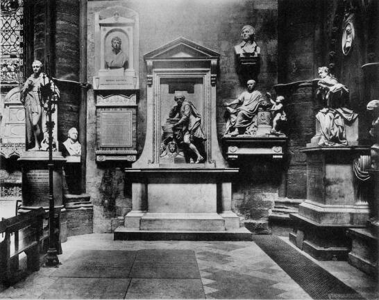Poet's Corner in Westminster Abbey