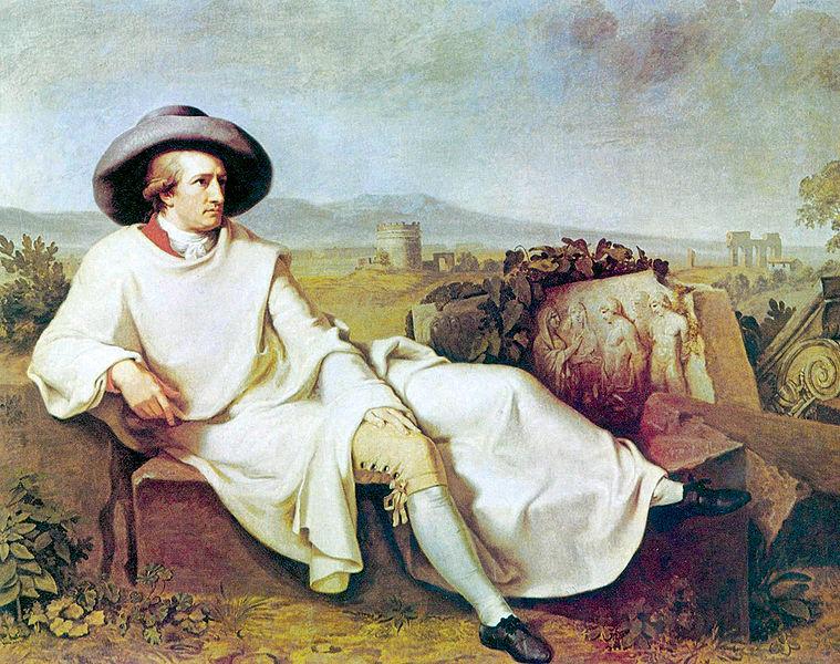 Johann Wolfgang Goethe in der Campagna 1787 IMG