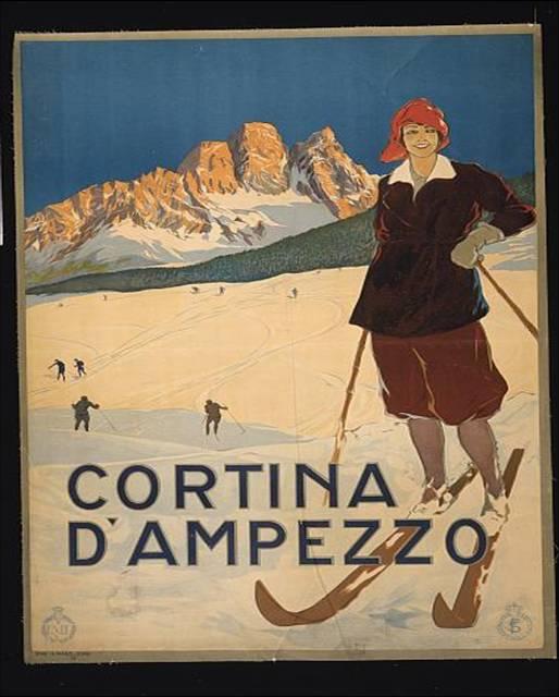 Werbeplakat für Cortina d'Ampezzo, um 1920 IMG