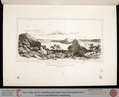 Otto Magnus von Stackelberg (1787–1837): Vue générale de l'ile d'Ithaque prise du Mont Neïos, 1834; Bildquelle: La Grèce: Vues Pittoresques et Topographiques, Paris 1834, Tafel 10; Digitalisat: Universitätsbibliothek Heidelberg, http://digi.ub.uni-heidelberg.de/diglit/stackelberg1834/0011.Attribution-NonCommercial-ShareAlike 3.0 Unported licensehttp://creativecommons.org/licenses/by-nc-sa/3.0/