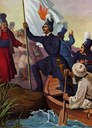 Alexander Ypsilantis (1792–1828) überquert den Fluss Pruth IMG