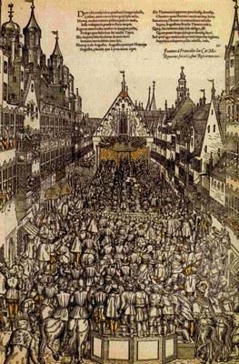 Die Belehnung Augusts von Sachsen am Reichstag 1566 IMG