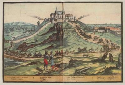 Einzug der englischen Gesandtschaft auf der Sababurg, 1598 IMG