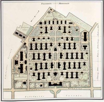 Plan für das Neue Allgemeine Krankenhaus in Hamburg Eppendorf IMG