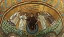 Apse mosaic in basilica of San Vitale, Ravenna, Italy