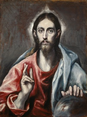 El Greco, Christ Blessing ('The Saviour of the World'), ca. 1600