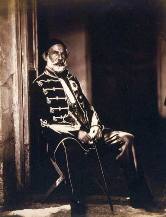 Omer Pasha (1806–1871), black-and-white photograph, photographer: Roger Fenton (1819–1869), 1855; source: Library of Congress, Prints and Photographs Division Washington, http://hdl.loc.gov/loc.pnp/cph.3g09350.