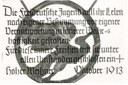 Meißnerformel, Schwarz-Weiß-Photographie mit Postkarteneindruck, ohne Datum, unbekannter Photograph; Bildquelle: Archiv der deutschen Jugendbewegung (AdJb), Burg Ludwigstein, Witzenhausen. Mit freundlicher Genehmigung des Archiv der deutschen Jugendbewegung.