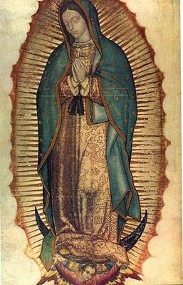 Virgen de Guadalupe, 1531, unbekannter Künstler; Bildquelle: Wikimedia Commons, http://commons.wikimedia.org/wiki/File:Virgen_de_guadalupe1.jpg, gemeinfrei.