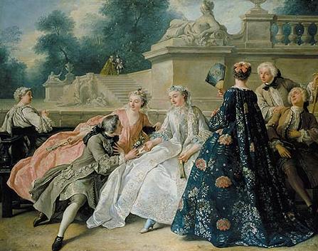 Jean François de Troy (1679–1752), La Déclaration de l'Amour, Öl auf Leinwand, 1731; Bildquelle: © Stiftung Preußische Schlösser und Gärten Berlin-Brandenburg.