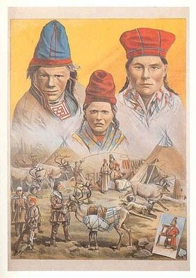 Friedländer, Adolph (1851-1904): Plakat für eine Samen-Völkerschau bei Carl Hagenbeck, Hamburg-St. Pauli, undatiertes Farbplakat; Bildquelle: Wikimedia Commons, http://commons.wikimedia.org/wiki/File:Friedl%C3%A4nder.plakat.7.jpg?uselang=de. Creative Commons Attribution ShareAlike 3.0 Germany.