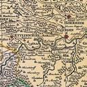 Karte: Welschdörfer (Waldenserkolonien), Ausschnitt  aus der Landkarte, die Jacques Michal (ca. 1685–ca. 1750) 1724 von der Schwäbischer Reichskreis zeichnete (Suevia Universa IX. Tabulus delineata). Mit freundlicher Genehmigung des Henri-Arnaud-Hauses Ötisheim-Schönenberg.