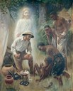 Harold Copping (1863–1932), A medical missionary attending to a sick African, 1916