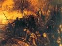 Adolph Menzel (1815–1905), Friedrich und die Seinen in der Schlacht bei Hochkirch,  1850–1856