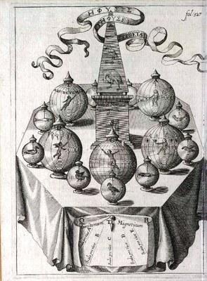 Athanasius Kircher (1602–1680), Magnetisches Orakel, 1643 IMG