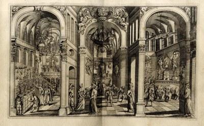 """Eberhard Werner Happel: """"Die Kunstkammer"""". Quelle: Ders., Relationes curiosae, Bd. 3. Antiquitäten, Curiositäten, Critische,Historische und andere Merckwürdige Seltzamtkeiten. Hamburg: Thomas von Wiering, 1687. S. 147-148. https://archive.org/stream/imageGIX360cMiscellaneaOpal#page/n147/mode/2up. Lizenz CC0 1.0 Universal (CC0 1.0)."""