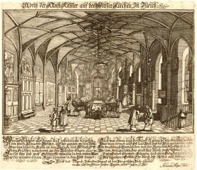 Johannes Meyer (1655–1712), Abriss der Kunst-Kammer auf der Wasser Kirchen In Zürich, 1688 IMG