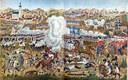 Die Schlacht bey Jena, um 1806, unbekannter Künstler; Bildquelle: Schulze, Friedrich (Hg.): Die Franzosenzeit in deutschen Landen 1806–1815: In Wort und Bild der Mitlebenden, Leipzig 1908, vol. 1.