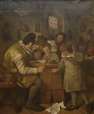 Jan Steen (1626–1679), The Village School, oil on canvas, ca. 1663/1665; source: © The National Gallery of Ireland http://www.nationalgallery.ie/