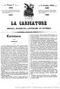 La Caricature, Nr. 1 vom 04.11.1830, Titelseite, Digitalisat Gallica,  http://gallica.bnf.fr/ark:/12148/bpt6k1239055.image.f4.langFR